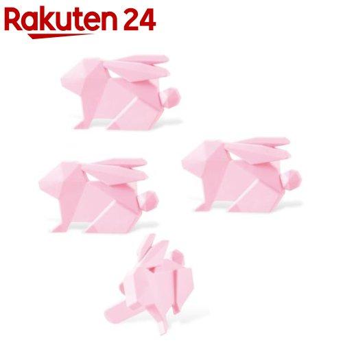 エレコム ELECOM コンセントキャップ ホコリ防止 難燃性樹脂 ピンク 安値 国内在庫 T-CAPKAKU2 4個 ウサギ