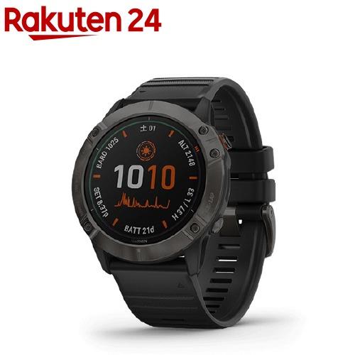 ガーミン スマートウォッチ fenix6X Pro Dual Power Ti Black DLC 0100215753(1個)【GARMIN(ガーミン)】