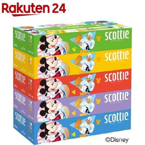 ティッシュ スコッティ SCOTTIE 販売実績No.1 数量限定アウトレット最安価格 ディズニーパッケージ 5箱パック 160組 320枚