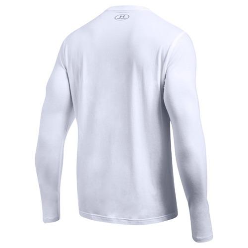 UA ロングスリーブレフトチェスト 1289909 WHITE/STEEL MD(1枚入)