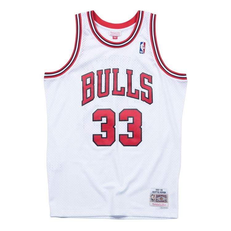 ミッチェル&ネス NBA シカゴ・ブルズ スコッティ・ピッペン 1997-98 スウィングマン ホーム ジャージー ホワイト (ユニフォーム) / Mitchell & Ness Chicago Bulls Scottie Pippen Swingman Jersey