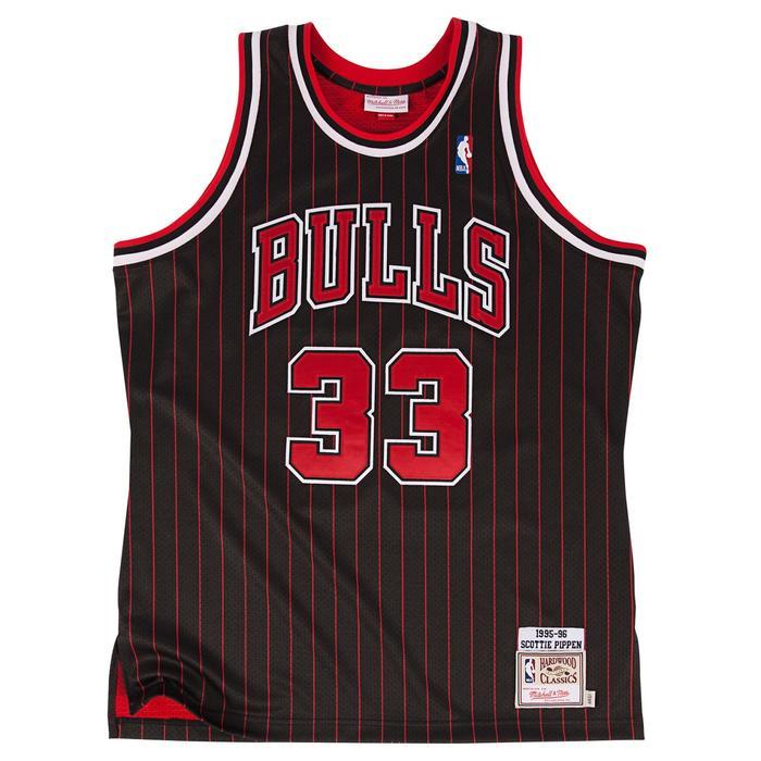 ミッチェル & ネス NBA シカゴ ブルズ スコッティ・ピッペン 1995-96 ブラック オーセンティック ユニフォーム メンズ / Mitchell & Ness Chicago Bulls Scottie Pippen Authentic Jersey