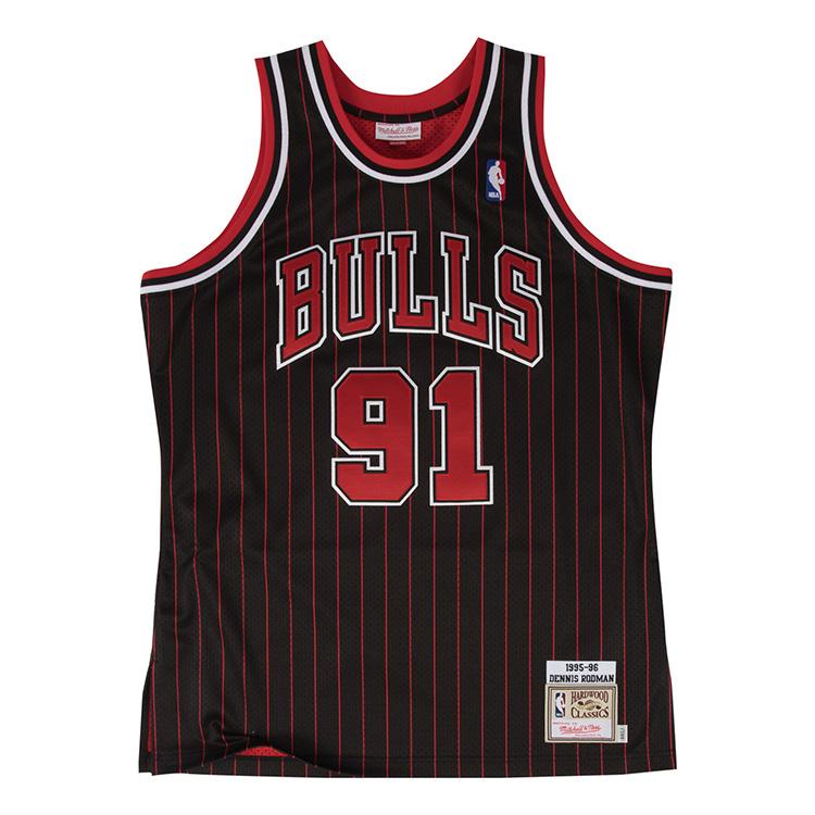ミッチェル&ネス NBA シカゴ ブルズ デニス・ロッドマン 1995-96 ブラック オーセンティック ユニフォーム メンズ / Mitchell & Ness Chicago Bulls Dennis Rodaman Authentic Jersey