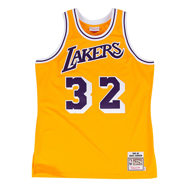 ミッチェル&ネス NBA ロサンゼルス レイカーズ マジック・ジョンソン 1984-85 イエロー オーセンティック ユニフォーム メンズ / Mitchell & Ness Los Angels Lakers Magic Johnson Authentic Jersey