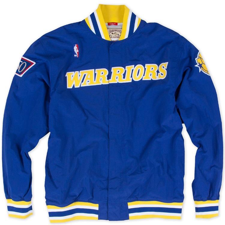ミッチェル & ネス NBA ゴールデンステート・ウォリアーズ 1996-97 オーセンティック ウォームアップシャツ(ジャケット)/ Mitchell & Ness Golden State Warriors Authentic Warm UP Shooting Shirts