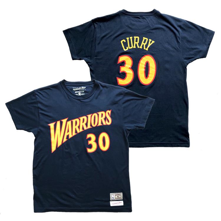 ファン涎垂の復刻Tシャツ ミッチェル ネス NBA ゴールデンステイト ウォリアーズ ステフィン カリー ネーム ナンバー 人気ブランド レトロ 情熱セール Tシャツ ブルー Name shirt SUPERSALEBIG Ness Stephen Warriors Mitchell curry T Number Golden State