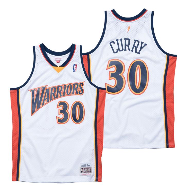 ミッチェル&ネス NBA ゴールデンステイト・ウォリアーズ ステフィン・カリー 2009-10 スウィングマン ホーム(ホワイト) ジャージー ユニフォーム / Mitchell & Ness Golden State Warriors Stephen Curry Swingman Jersey