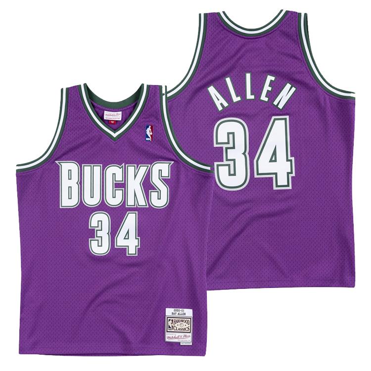 ミッチェル&ネス NBA ミルウォーキー・バックス レイ・アレン 2000-01 スウィングマン ロード ジャージー (ユニフォーム) / Mitchell & Ness Milwaukee Bucks Ray Allen Swingman Jersey