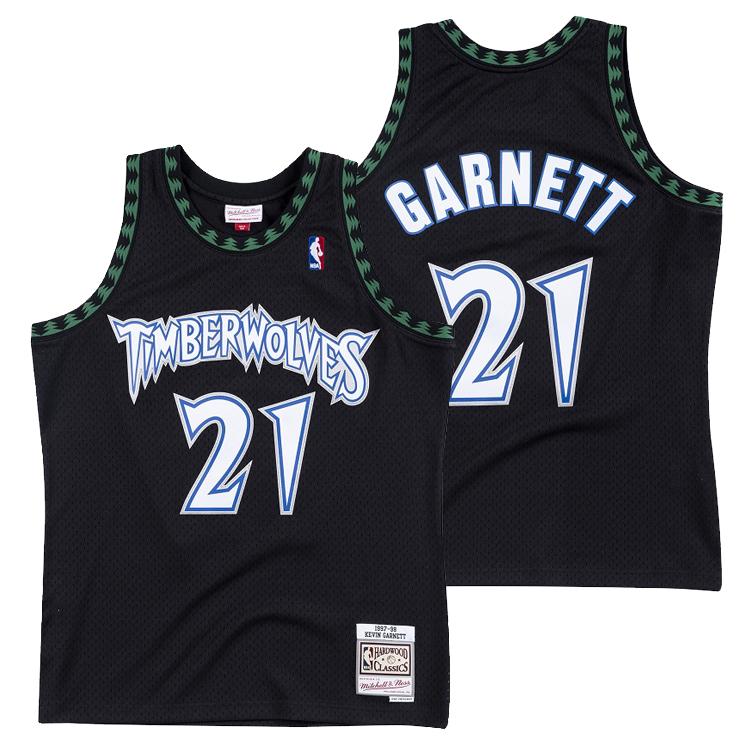 ミッチェル&ネス NBA ミネソタ・ティンバーウルブズ ケビン・ガーネット 1997-98 スウィングマン ロード ジャージー (ユニフォーム) / Mitchell & Ness Minnesota Timber Wolves Kevin Garnett