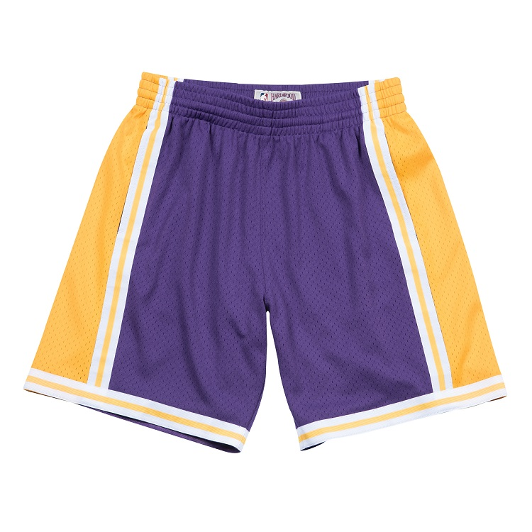 ミッチェル&ネス NBA ロサンゼルス・レイカーズ 1984-85 ロード スウィングマン メッシュ ショートパンツ (ハーフパンツ) / Los Angeles Lakers 1984-85 SWINGMAN SHORTS
