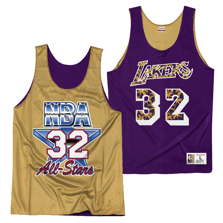 ミッチェル&ネス NBA ロサンゼルス・レイカーズ マジック・ジョンソン リバーシブル ジャージー メッシュ プラクティスタンクトップ / Mitchell & Ness Los Angeles Lakers Reversible Mesh Tank - Magic Johnson