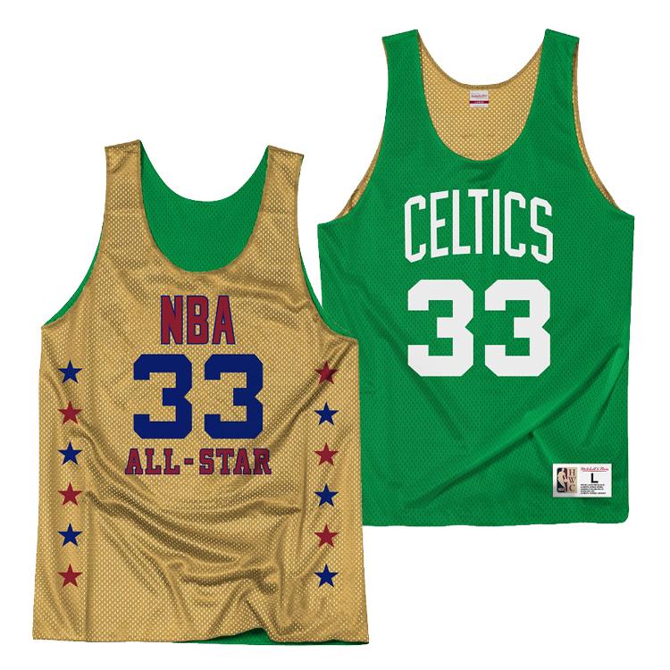 ミッチェル&ネス NBA ボストン・セルティックス ラリー・バード リバーシブル ジャージー メッシュ プラクティスタンクトップ / Mitchell & Ness Boston Celtics Reversible Mesh Tank - Larry Bird