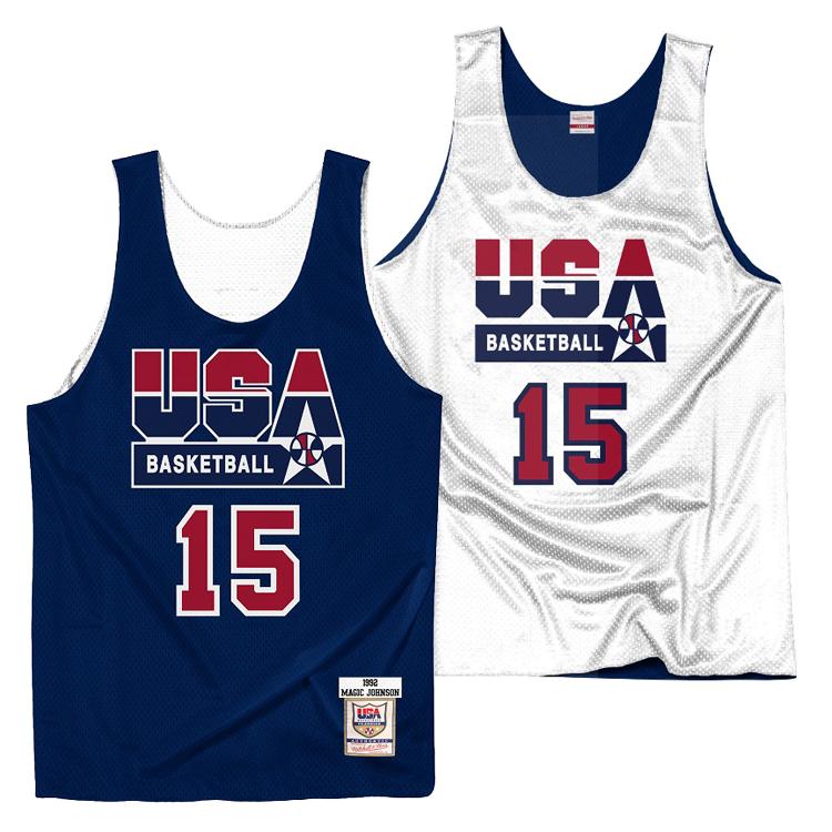 ミッチェル&ネス チームUSA(ドリームチーム) マジック・ジョンソン リバーシブル ジャージー プラクティスタンクトップ / Mitchell & Ness TEAM USA Dream Team Magic Johnson Practice Jersey