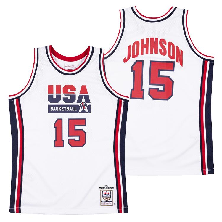 ミッチェル&ネス USA ドリームチーム マジック・ジョンソン オーセンティック ジャージー / Mitchell&Ness USA Dream Team Magic Jphnson Authentic Jersey / NBA ロサンゼルス・レイカーズ