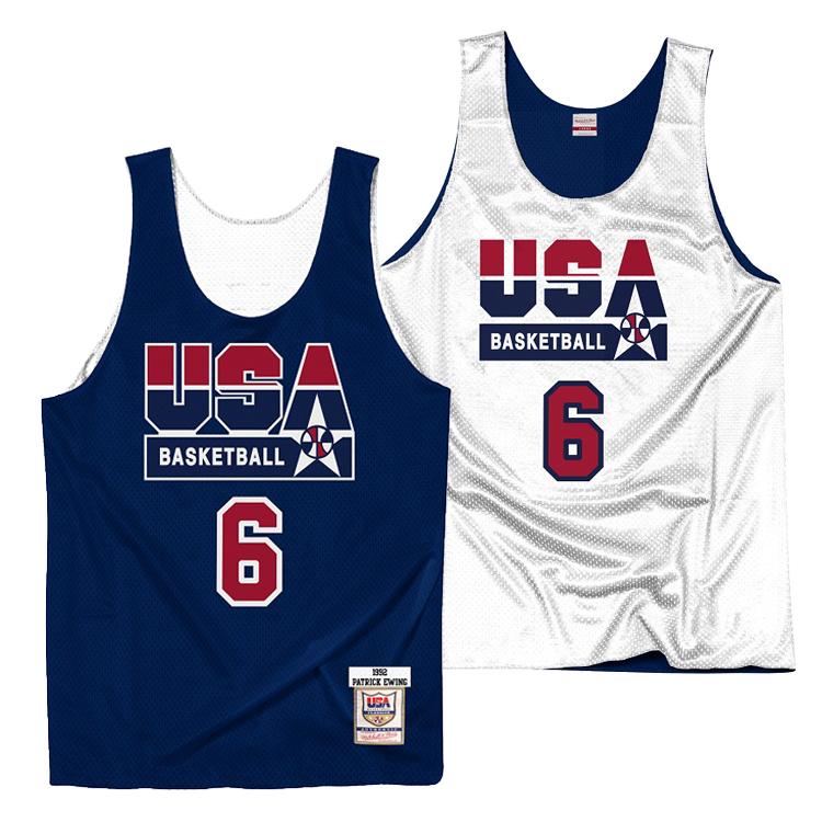 ミッチェル&ネス チームUSA(ドリームチーム) パトリック・ユーイング リバーシブル ジャージー プラクティスタンクトップ / Mitchell & Ness TEAM USA Dream Team Patrick Ewing Practice Jersey