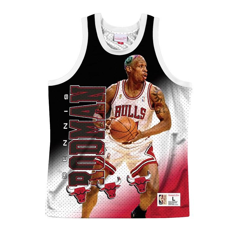 ミッチェル&ネス NBA シカゴ・ブルズ デニス・ロッドマン Behind The Back スウィングマン ジャージー / Mitchell & Ness Chicago Bulls Behind The Back Tank - Dennis Rodman