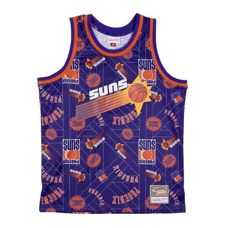 ミッチェル&ネス NBA フェニックス・サンズ Tear up スウィングマン ジャージー 総柄ロゴ / Mitchell & Ness Phoenix Suns Tear up Swingman Jersey