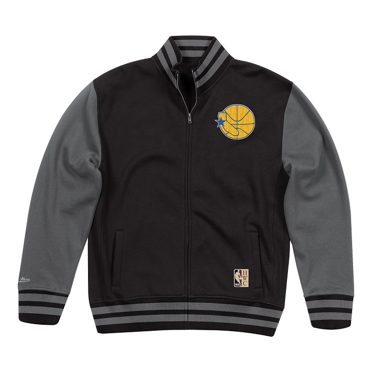 NBA ゴールデンステイト・ウォリアーズ バーシティ フリースジャケット / Golden State Warriors Varsity Fleece Jacket / Mitchell & Ness (ミッチェル&ネス)