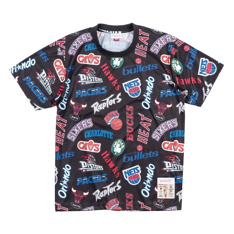 ミッチェル&ネス NBA イースタン オールロゴ Tシャツ / Mitchell & Ness All-Over Eastern T shirt
