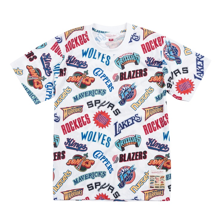 ミッチェル&ネス NBA ウェスタン オールロゴ Tシャツ / Mitchell & Ness All-Over Western T shirt
