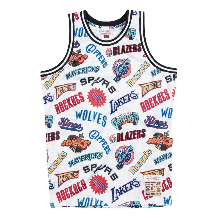 ミッチェル&ネス NBA ウェスタン・カンファレンス オールロゴ スウィングマン ジャージー (ユニフォーム) / Mitchell & Ness ALL-OVER WESTERN SWINGMAN JERSEY
