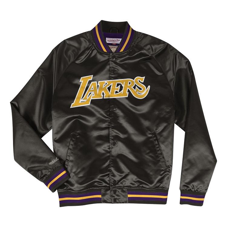ミッチェル & ネス NBA ロサンゼルス・レイカーズ サテンジャケット / Mitchell & Ness Los Angeles Lakers Tough season satin Jacket