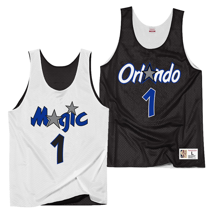 Orlando Magic Penny Hardaway Hardwood Classics Reversible Mesh Tank Top By