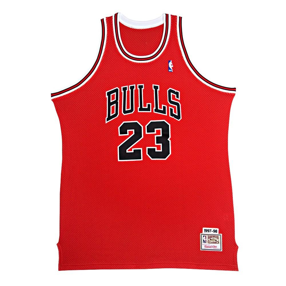 マイケル・ジョーダン 直筆サイン入り ミッチェル&ネス NBA シカゴ ブルズ 1997-98 レッド オーセンティック ユニフォーム 【フレームなし】 / NBA Michael Jordan Signed Chicago Bulls Mitchell & Ness Authentic Jersey / UPPER DECK メモラビリア
