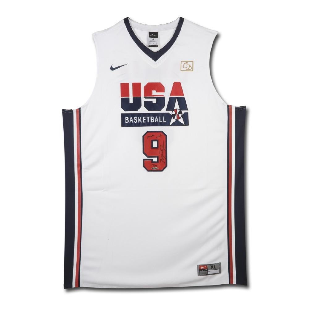 マイケル・ジョーダン NBA 直筆サイン入り 1992 USA ドリームチーム ユニフォーム 【フレームなし】 / MICHAEL JORDAN SIGNED & INSCRIBED