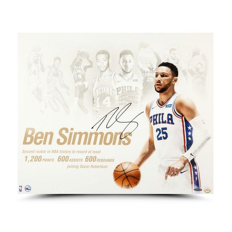 ベン・シモンズ 直筆サイン入り 20x24インチ