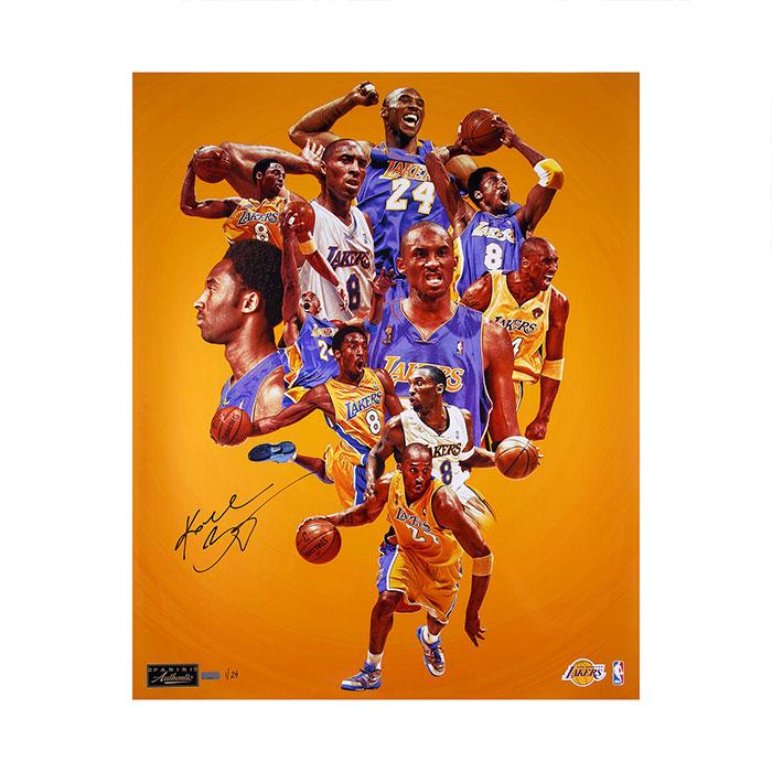 コービー・ブライアント 直筆サイン入り 24×30インチ フォト  ポスター 世界24枚限定生産 【フレームなし】 / Kobe Bryant Autographed 24x30