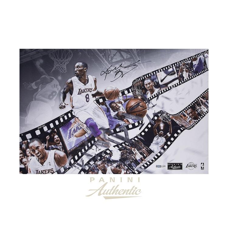 コービー・ブライアント 直筆サイン入り 20×30インチ フォト ポスター 世界124枚限定生産 【フレームなし】/ Kobe Bryant Autographed 20x30