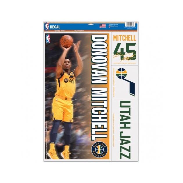身の回りのお気に入りアイテムをNBA仕様に NBA ユタ ジャズ ドノバン 低価格 ミッチェル Jazz Donovan 大規模セール マルチデコールステッカー Utah Mitchell