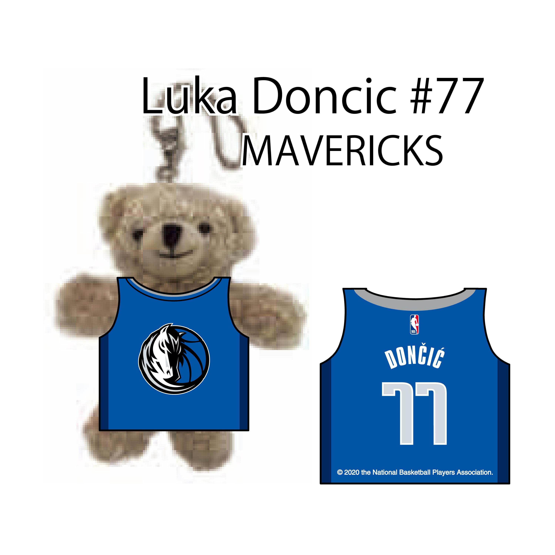 NBA公式ルカ ドンチッチ選手グッズ ダラス マーベリックス オンライン限定商品 ルカ ドンチッチ#77 ネームナンバー Dallas Doncic Luka 期間限定お試し価格 ユニフォームベアキーチェーン Mavericks