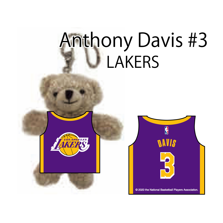 NBA公式アンソニー デイビス選手グッズ ロサンゼルス レイカーズ アンソニー デイビス#3 Davis LakersAnthony ネームナンバー Angeles ユニフォームベアキーチェーン 期間限定送料無料 Los モデル着用 注目アイテム