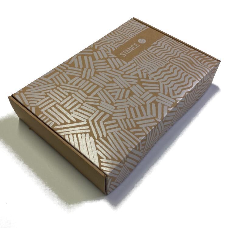 大切な方へのプレゼントに 専用のギフトボックスを STANCE ギフト用クラフトボックス NBA 公式ソックス 靴下 ラッピング 新色追加 卓出 アンダーウェア プレゼント バッソク メンズ