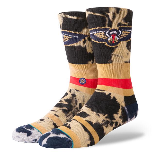 ギフト配送対応 NBA好きなあの人に プレゼントに最適なNBA公式ソックス STANCE スタンス Neworleans Pelicans ACID メンズ WASH 付与 NBAカジュアルコレクション ニューオーリーンズ ソックス ペリカンズ 新発売 靴下