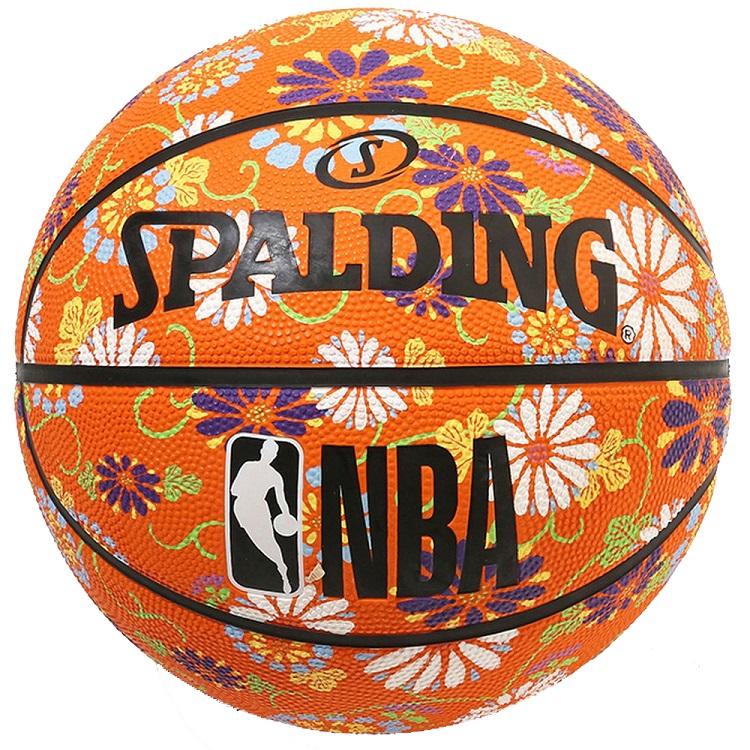 NBA公式グッズ Spalding NBA公式 バスケットボール 6号球 キク柄 ラバーボール 屋外用に最適 mashu kyoto スポルディング ランキング総合1位 品質保証 マシュ コラボレーションデザイン キョウト
