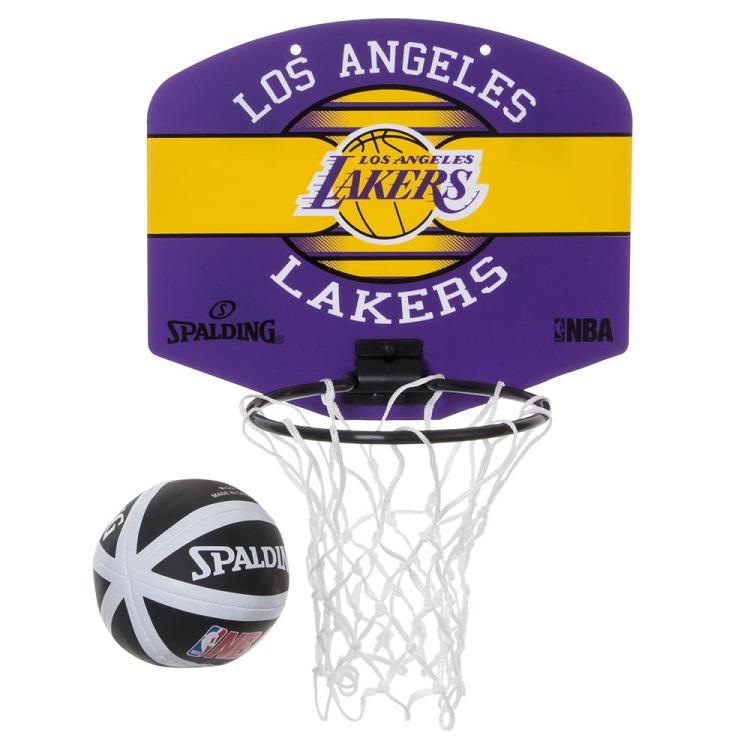 NBAファンにおすすめのインテリアグッズ Spalding スポルディング NBA ロサンゼルス レイカーズ ゴール Lakers Angeles 新作 人気 マイクロミニボード バスケットボール Los 店舗