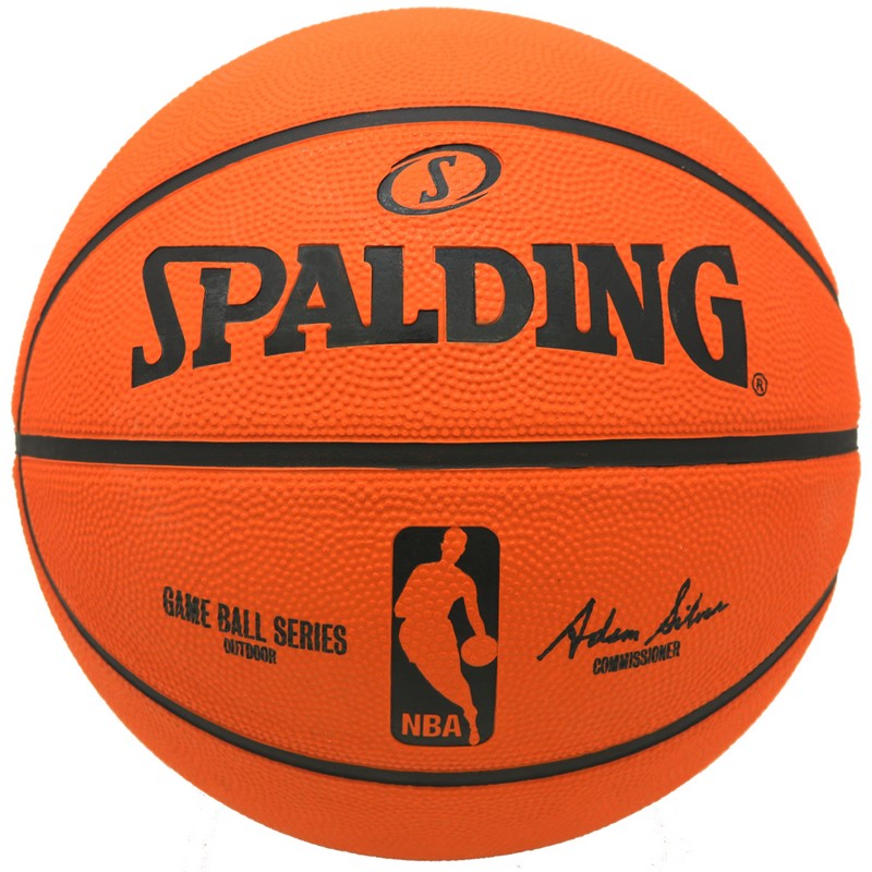 NBA公式グッズ Spalding 現金特価 NBA バスケットボール 7号球 [宅送] 屋外用に最適 公式試合球レプリカボール ラバーボール スポルディング