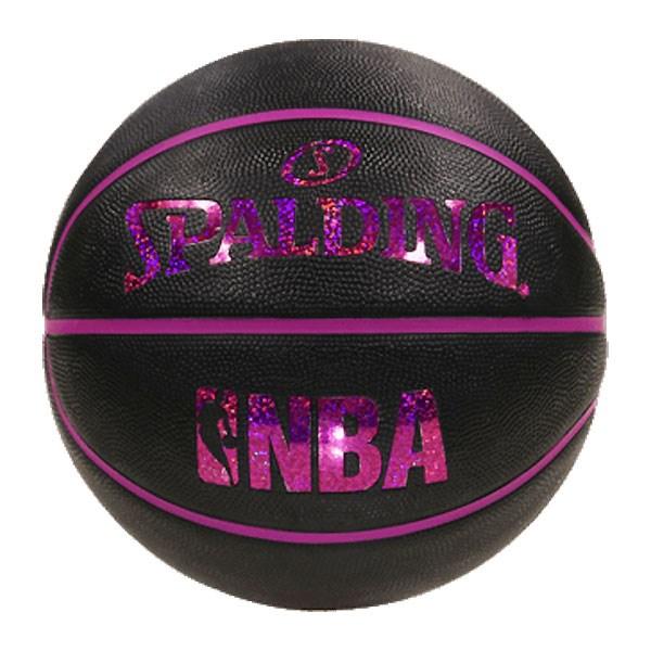 屋外バスケにおすすめ NBA公式 激安通販販売 SPALDING 5号球 バスケットボール 限定特価 ブラックレッド ホログラム スポルディング ゴム ラバー