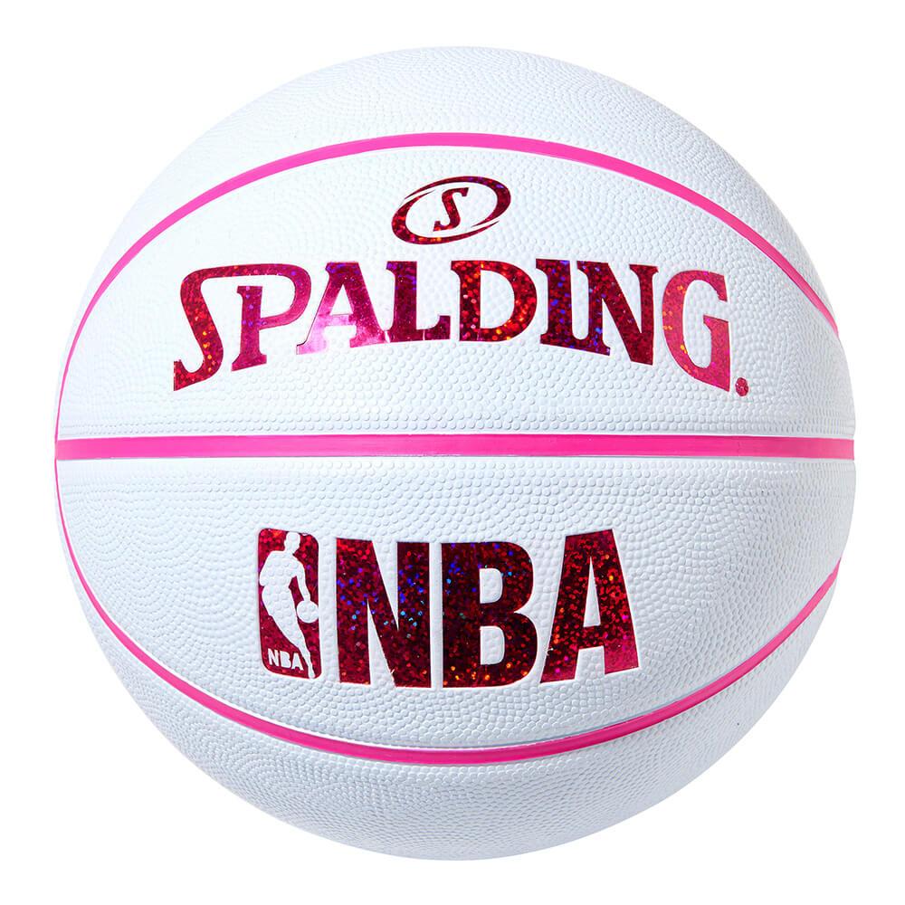 屋外バスケにおすすめ NBA公式 SPALDING 6号球 バスケットボール ホログラム 優先配送 公式通販 スポルディング ラバー ゴム ホワイト レッド