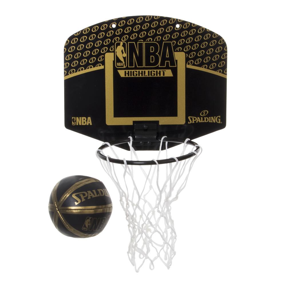 プレゼントにもぴったり NBA公式 SPALDING 屋内 ハイライト 安全 室内 返品不可 ミニバスケットゴールマイクロミニボード