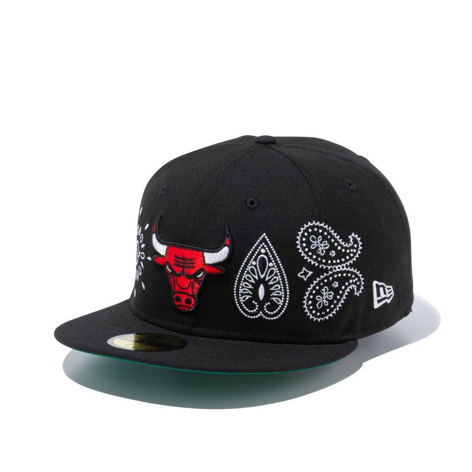 2021SUMMER NEW ITEMS ERA NBA 59FIFTY Paisley Elements シカゴ Bulls キャップ ニューエラ バスケットボール Chicago ランキングTOP10 ブラック メンズ 定番キャンバス 帽子 ブルズ