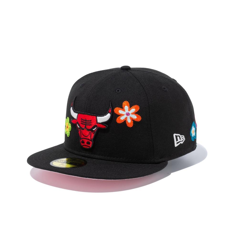 2021秋冬 新商品 NEW ERA NBA 59FIFTY 激安価格と即納で通信販売 Chain Stitch Floralシカゴ Chicago セール キャップ ニューエラ Bulls メンズ帽子 ブルズピンクアンダーバイザー