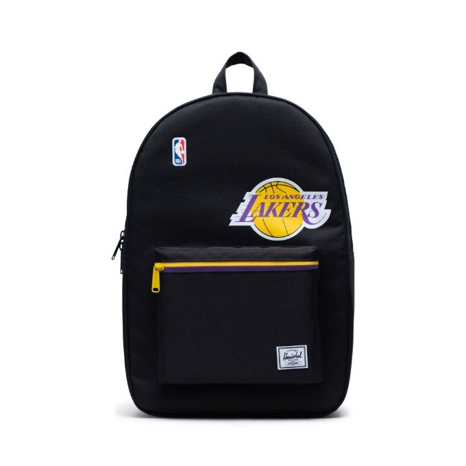 Herschel Supply(ハーシェルサプライ) NBA Super fan ロサンゼルス・レイカーズ Black/Gold/Purple セトルメントバックパック リュック / Settlement Los Angeles Lakers