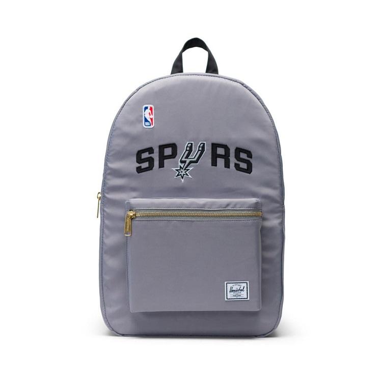 Herschel Supply(ハーシェルサプライ) NBA Champions サンアントニオ・スパーズ Silver/Black セトルメントバックパック リュック / Settlement Backpack San Antonio Spurs