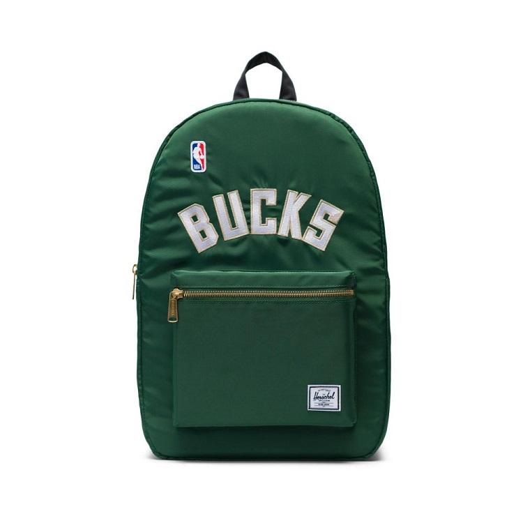 Herschel Supply(ハーシェルサプライ) NBA Champions ミルウォーキー・バックス Dark Green/Black/White セトルメントバックパック リュック / Settlement Backpack Milwaukee Bucks