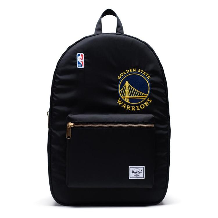 Herschel Supply(ハーシェルサプライ) NBA Champions ゴールデンステート・ウォリアーズ Black セトルメントバックパック リュック / Settlement Backpack Golden State Warriors