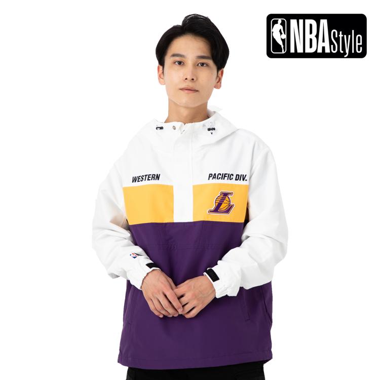 【NBA Style】 Los Angeles Lakers チームカラー ハーフジップ アノラックフーディー ユニセックス / ロサンゼルス・レイカーズ
